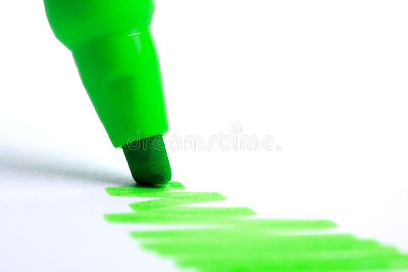 绿色轮廓色? 库存图片