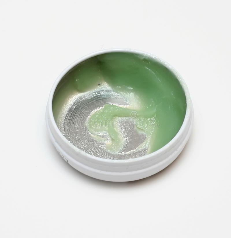 绿色软膏 库存照片