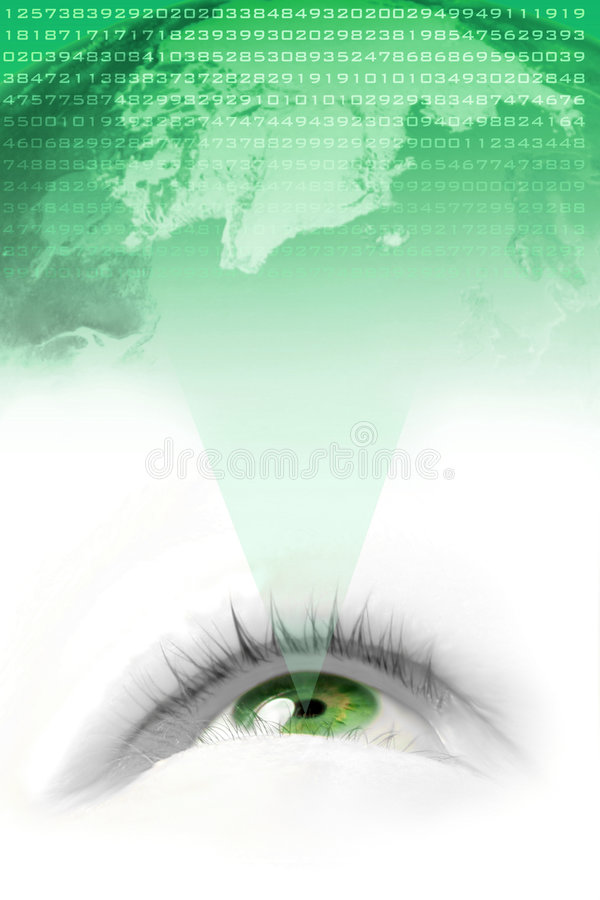 绿色远见世界 向量例证