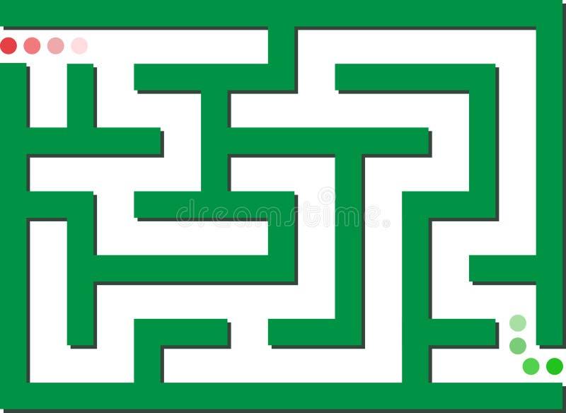 绿色迷宫 皇族释放例证