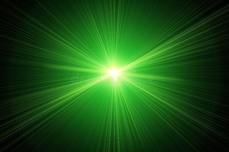 绿色透镜火光 皇族释放例证
