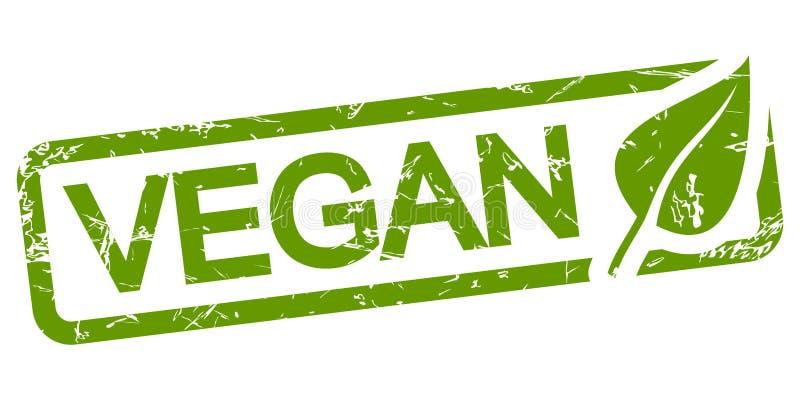 绿色邮票素食主义者 向量例证