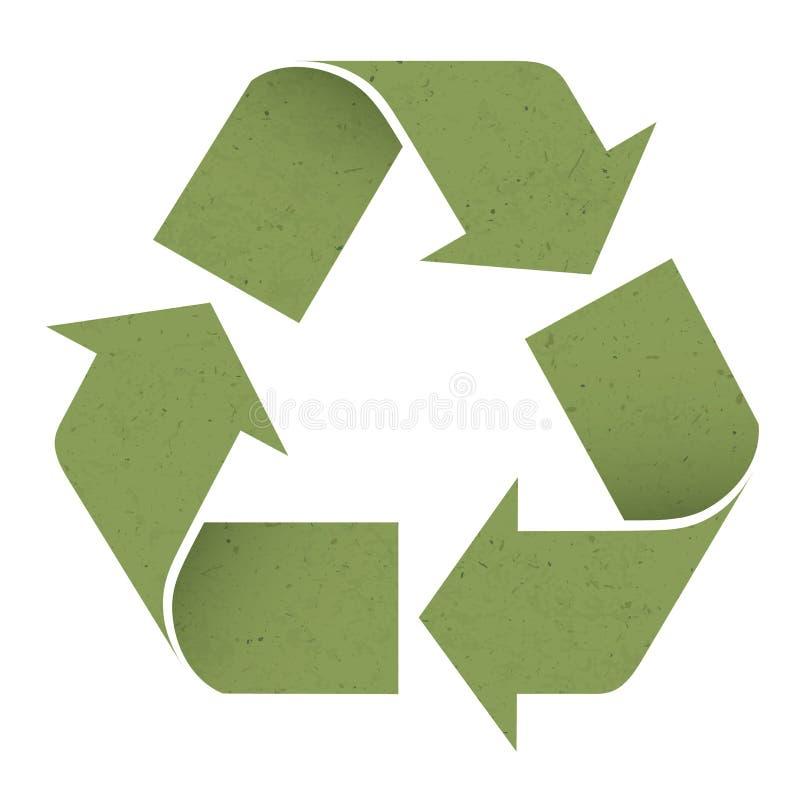 绿色重新使用符号,查出在白色 向量例证