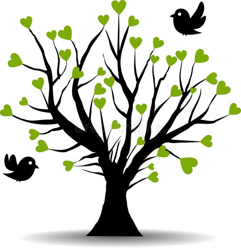 绿色重点爱护树木 向量例证