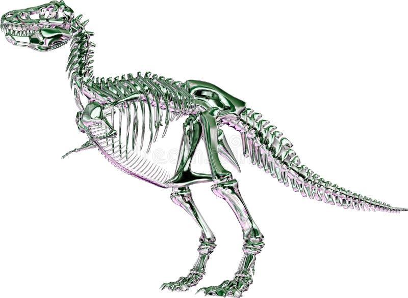 绿色金属rex概要暴龙 库存例证