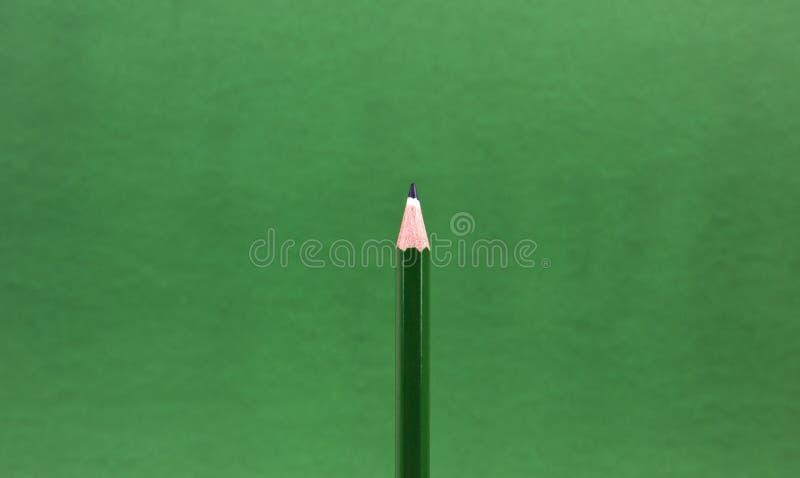 绿色铅笔技巧 库存图片