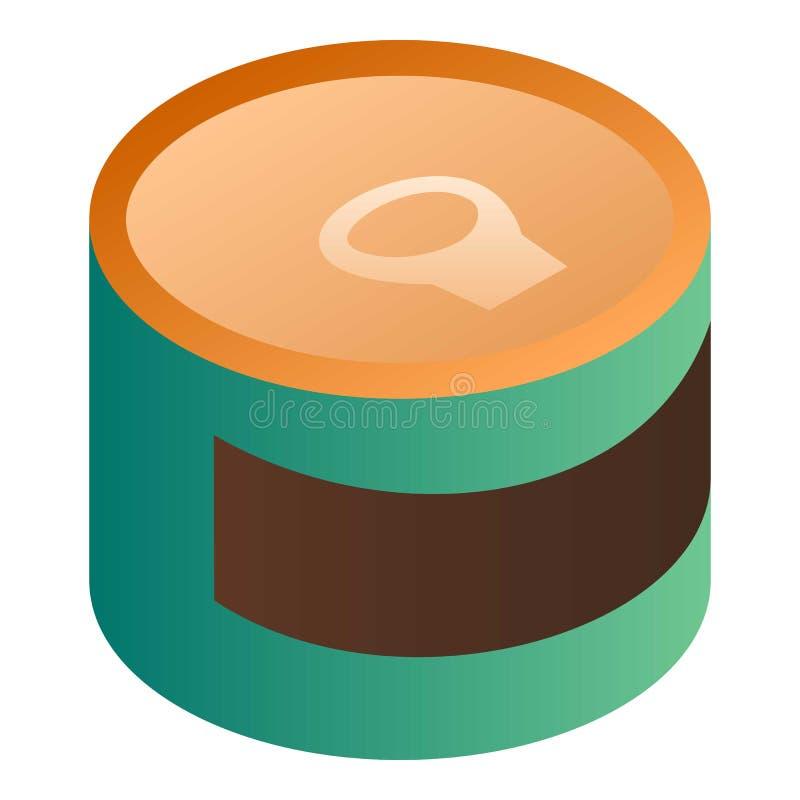 绿色锡罐象,等量样式 库存例证
