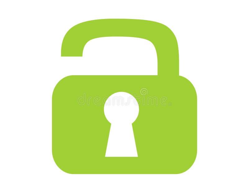 绿色门闩 皇族释放例证
