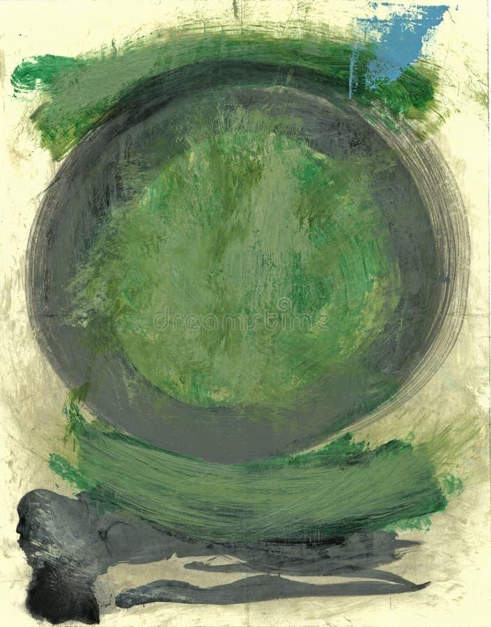 绿色陶 皇族释放例证