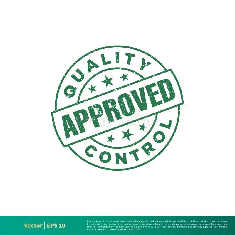绿色难看的东西批准的邮票土气传染媒介设计模板例证设计 o 向量例证