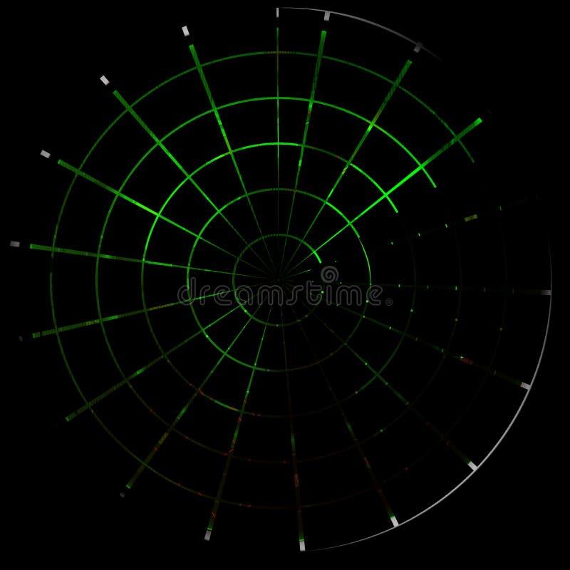 绿色雷达 向量例证