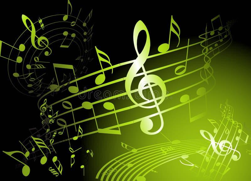 绿色音乐主题 向量例证