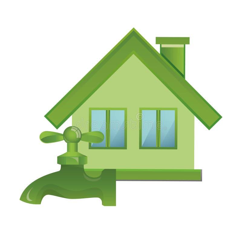 绿色项目-象征自然、生态和能量的生态象 库存例证