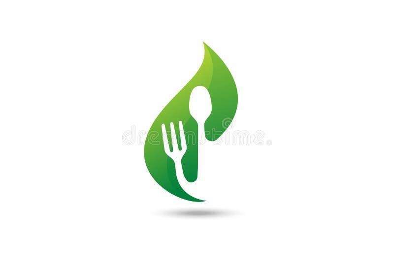 绿色食物商标 皇族释放例证