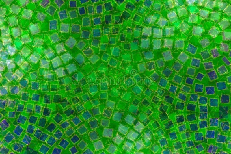 绿色马赛克模式瓦片 向量例证