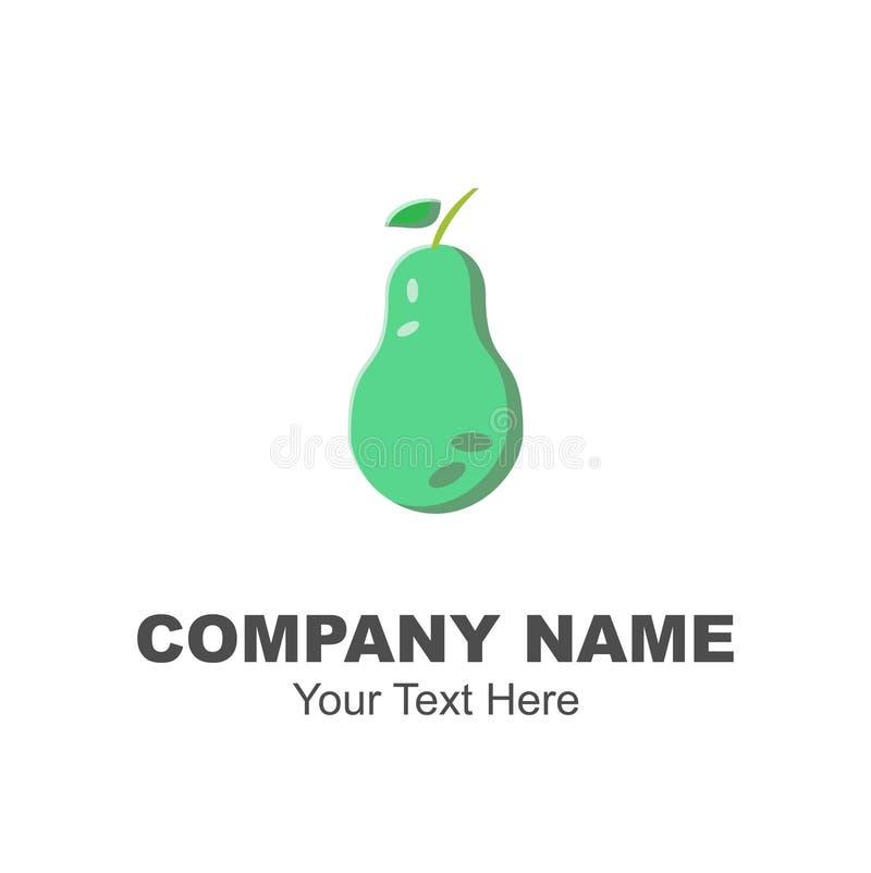 绿色鲕梨商标设计 皇族释放例证