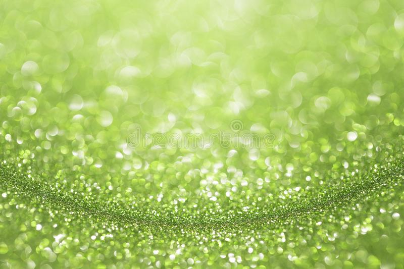 绿色鲜绿色闪烁背景 免版税库存照片