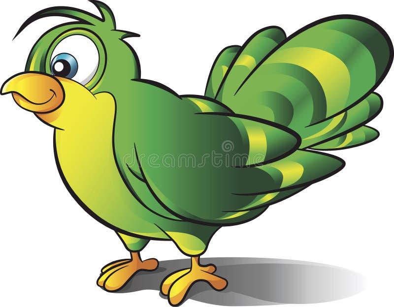 绿色鸟传染媒介动画片 向量例证