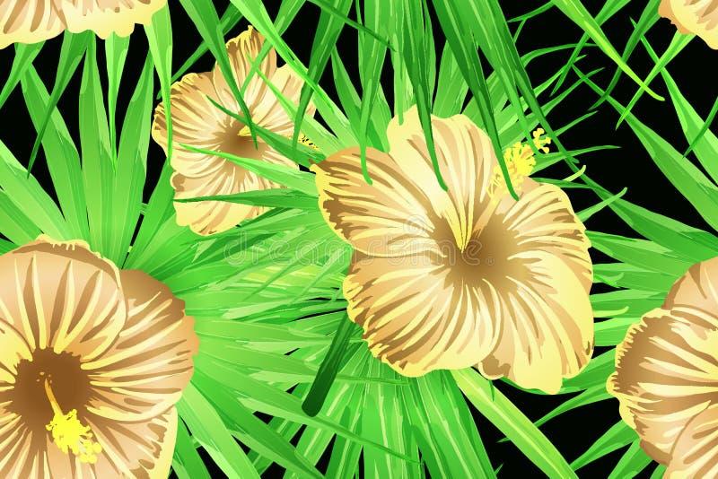 绿色黄色异乎寻常的样式 皇族释放例证