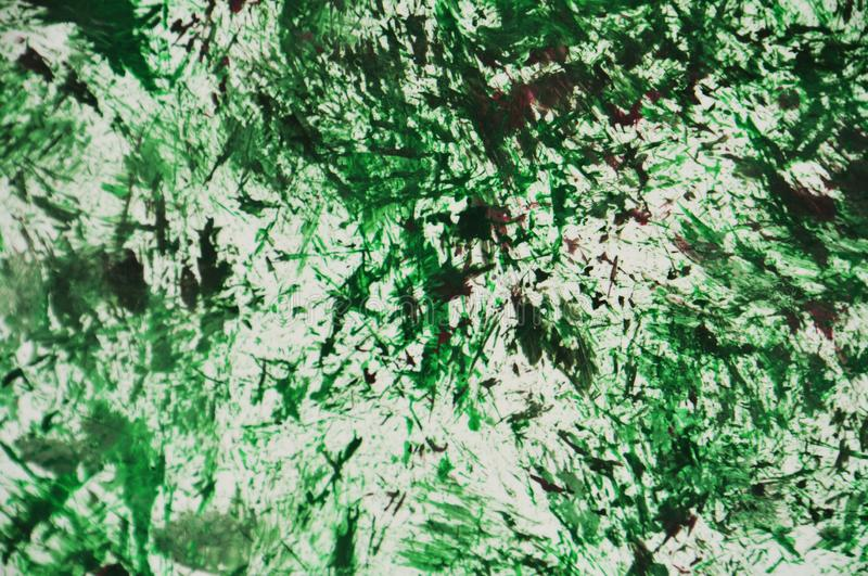 绿色黑暗的白色紫色油漆水彩背景,水彩丙烯酸漆摘要背景 向量例证