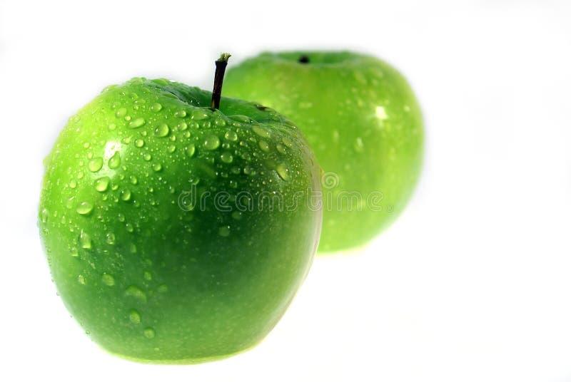 绿色Apple 7 免版税库存照片