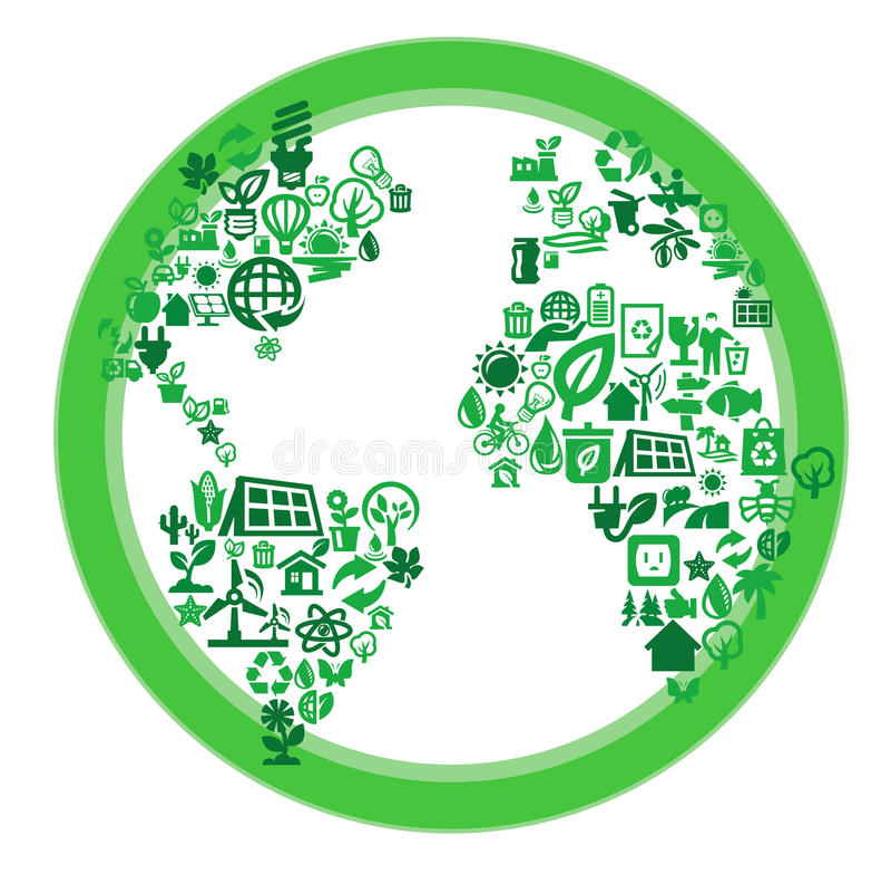 绿色eco世界 库存例证