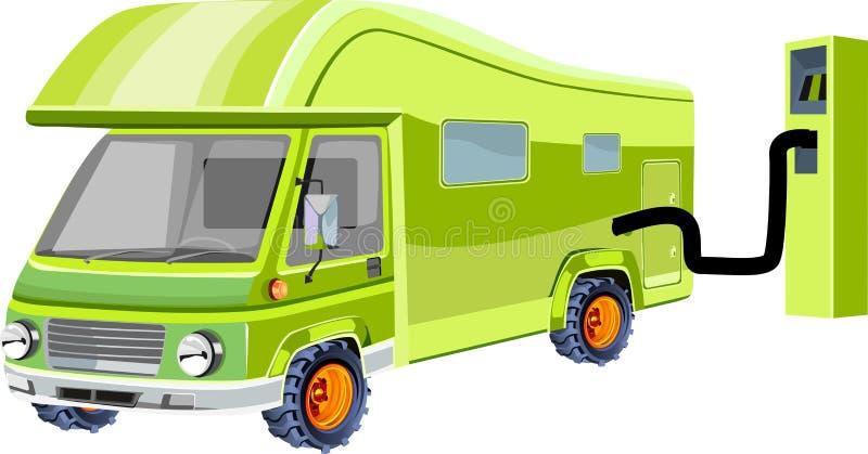 绿色Eco汽车,生态题材概念传染媒介例证, 皇族释放例证