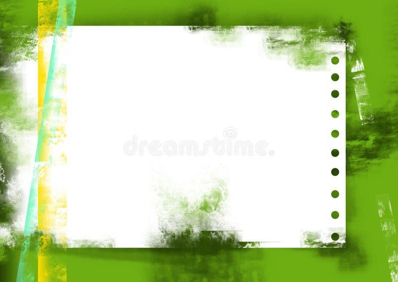 绿色grunge纸张页 库存例证