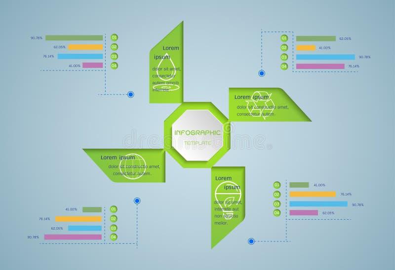 绿色infographic 向量例证