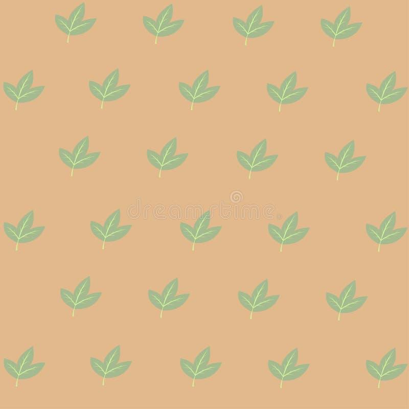 绿色markisa叶子亚洲人果子传染媒介  免版税库存图片