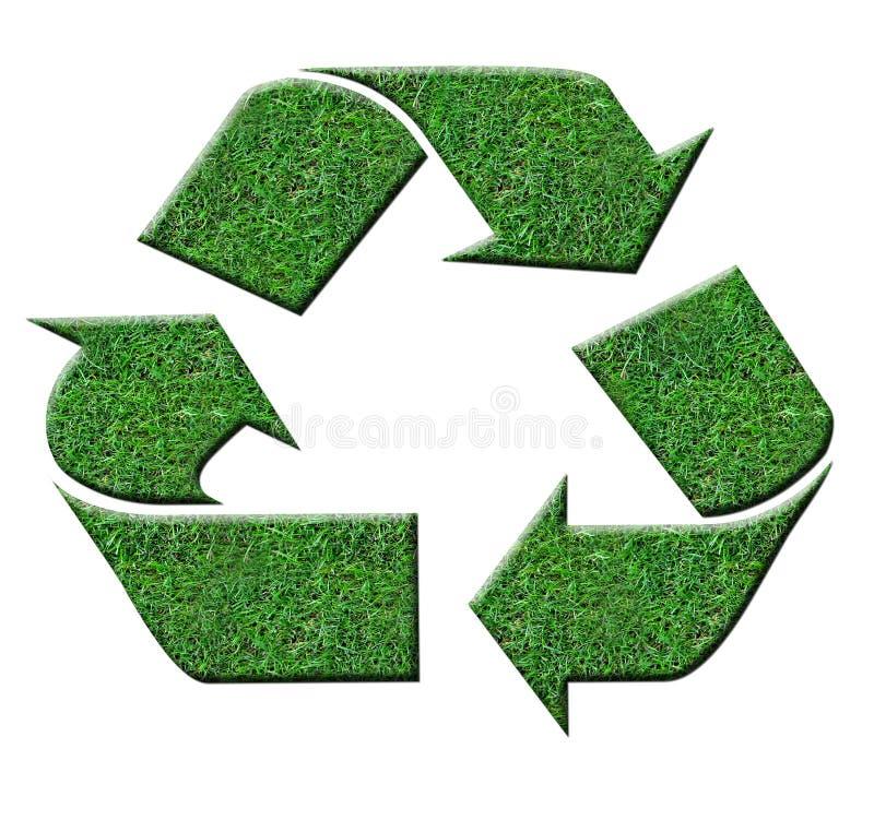 绿色recyle符号 图库摄影