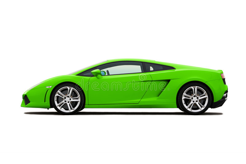 绿色supercar 免版税库存照片