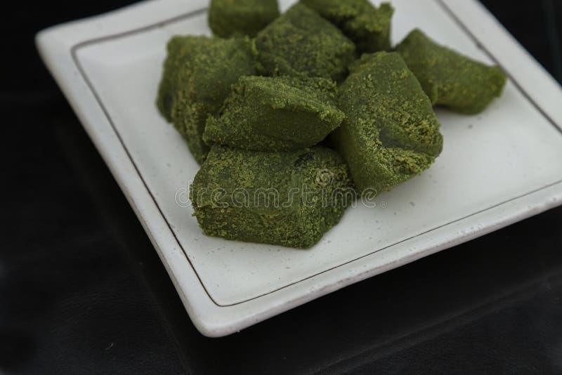 绿茶口味warabi mochi 库存图片