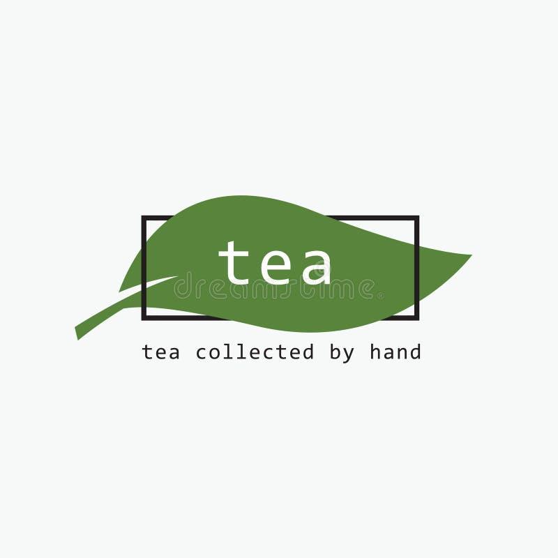 绿茶商标 叶子象征 皇族释放例证