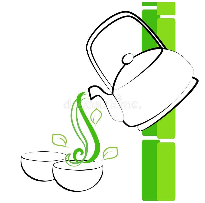 绿茶 向量例证