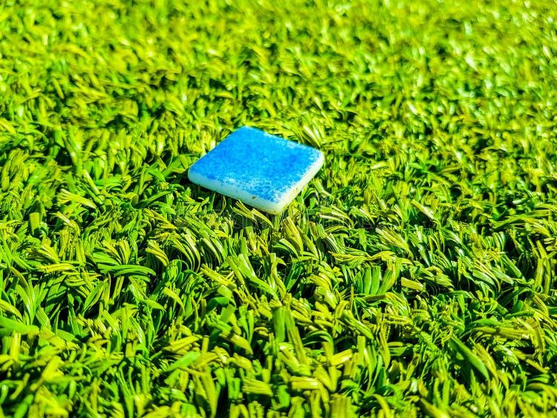 绿草抽象自然本底  免版税库存照片