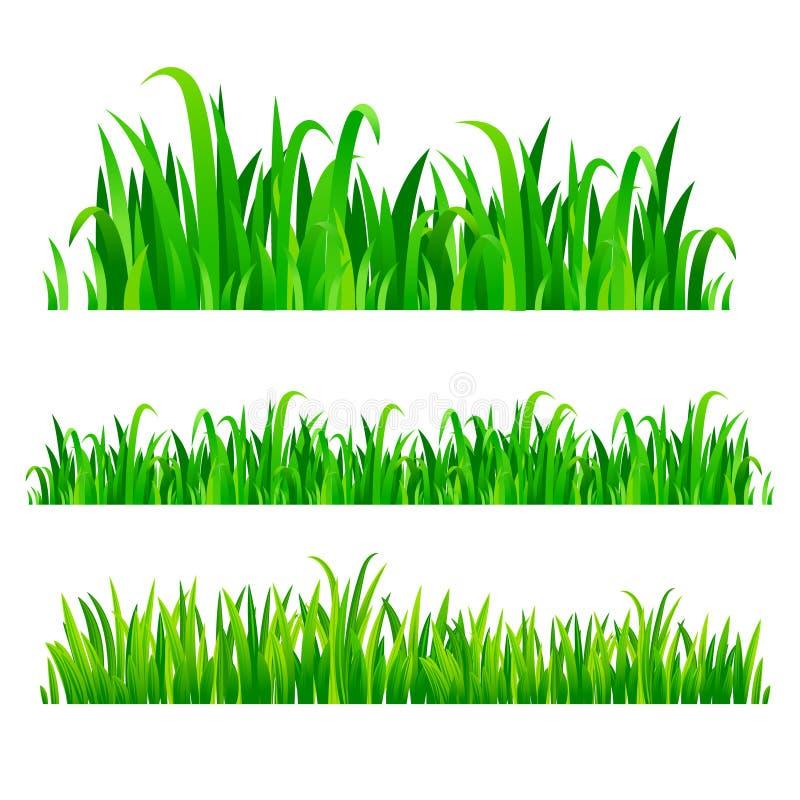 绿草边界,传染媒介集合 库存例证
