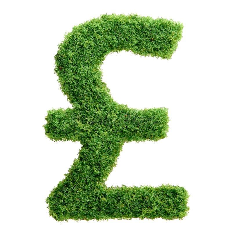 绿草eco英磅被隔绝的货币符号 皇族释放例证