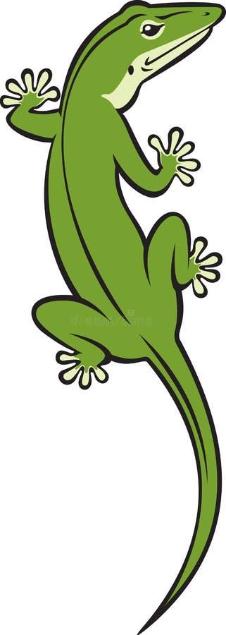 绿蜥蜴 向量例证