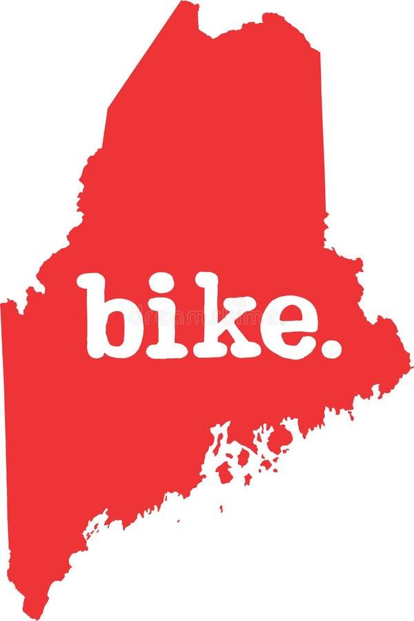 缅因自行车状态向量标志 皇族释放例证