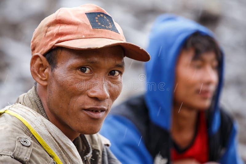 缅甸人在钦邦 库存图片