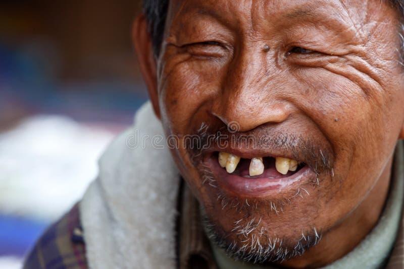 缅甸人在Falam,缅甸(缅甸) 免版税库存照片