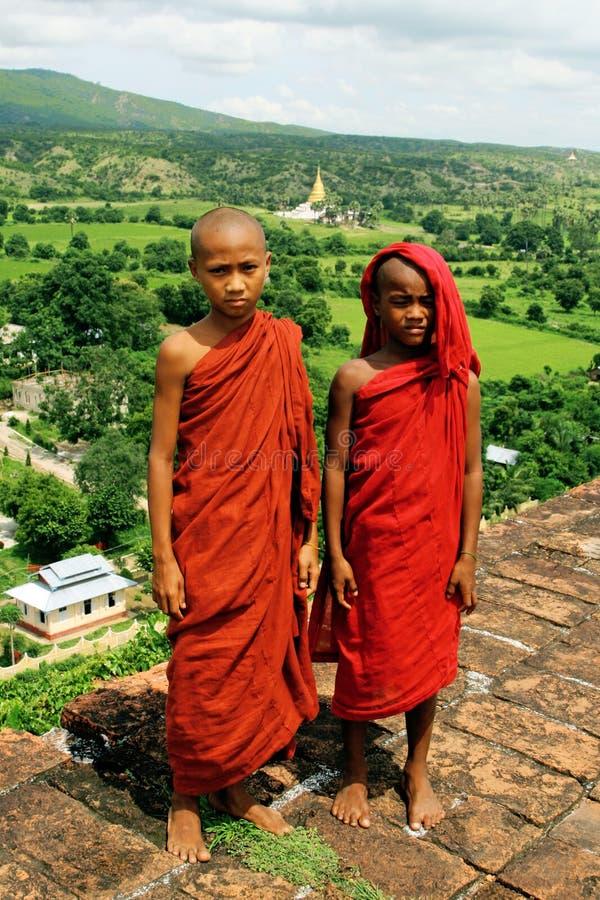 缅甸修士 免版税库存图片