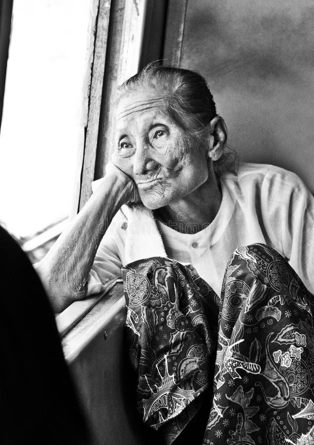 缅甸夫人 免版税库存图片