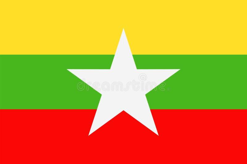 缅甸旗子传染媒介平的象 皇族释放例证