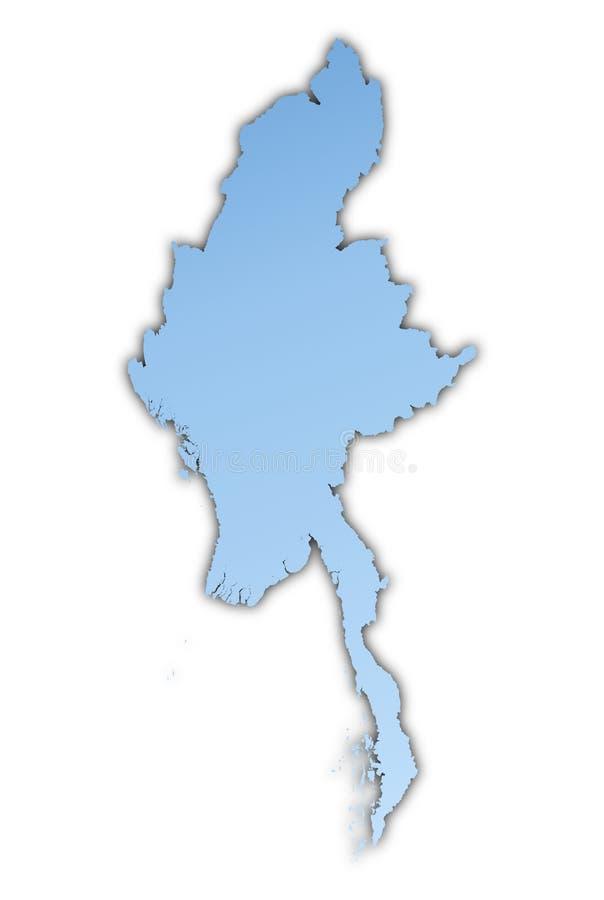 缅甸映射 库存例证