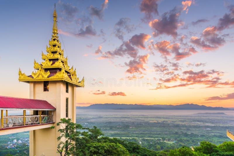 缅甸曼德勒山 库存照片