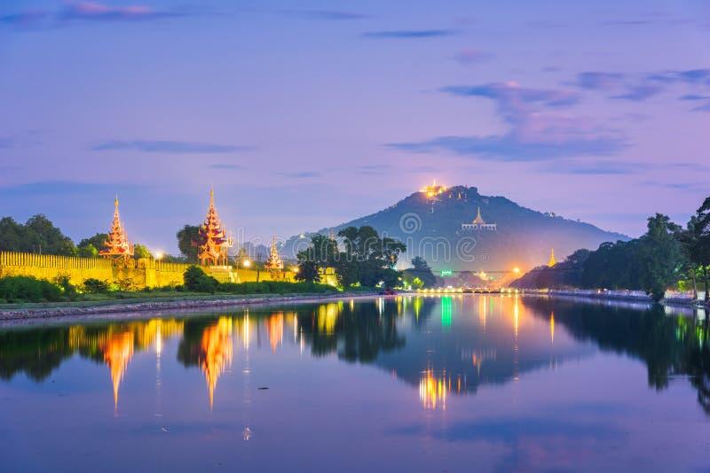 缅甸曼德勒,曼德勒山 免版税库存照片