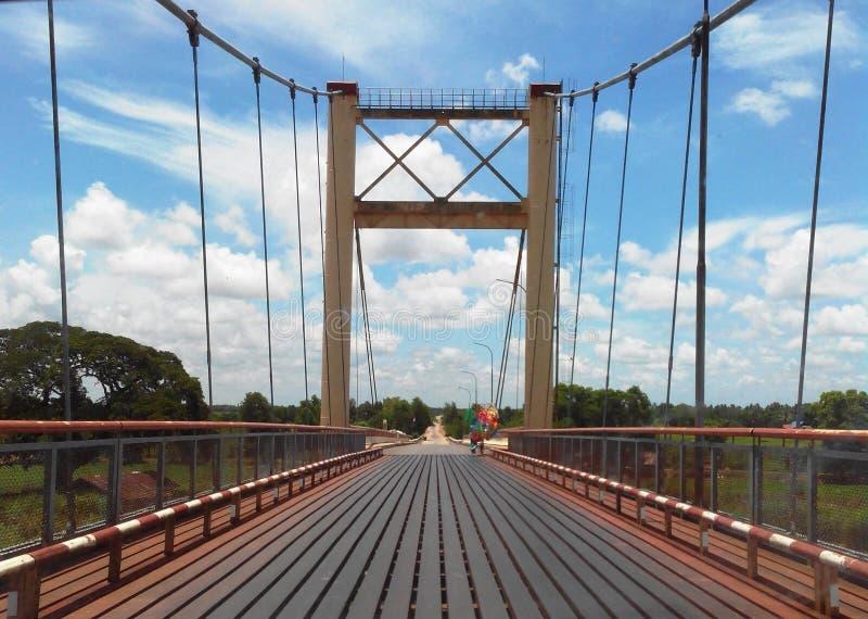 缅甸桥梁 免版税库存图片