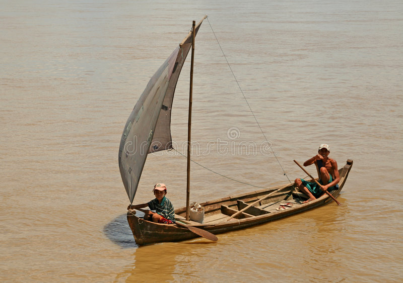 缅甸渔夫 免版税库存图片